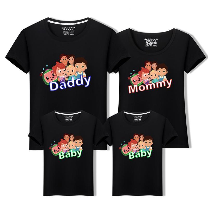 Kokomelon Cartoon Kurzarm JJ Design T-Shirt Tops Kinder T-Shirt-Familie T-shirts Jungen Tops C1223
