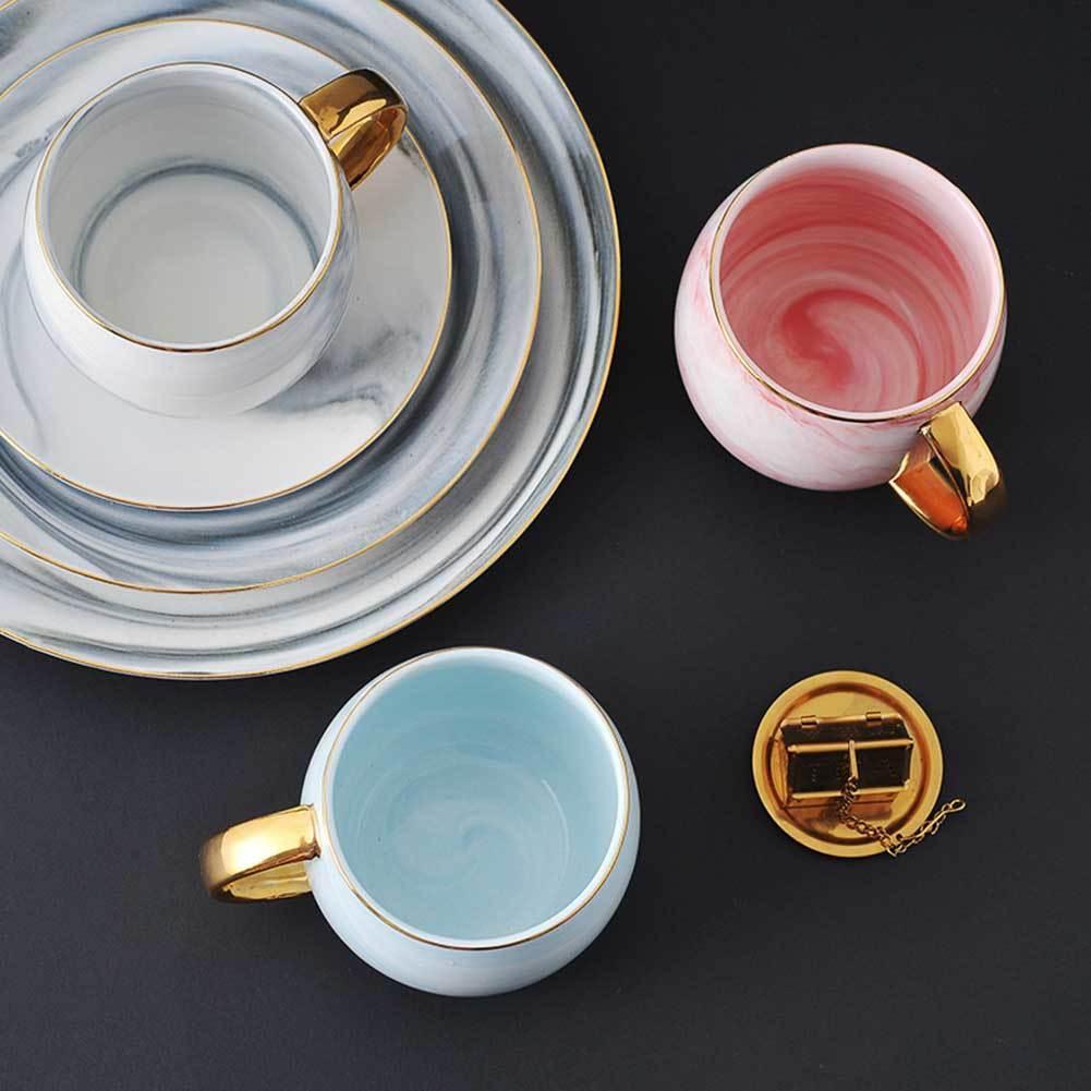 Nouvelle-Nordic Tasse Coupe de la céramique de marbre Thé de thé en céramique Boire Petit-déjeuner Petit déjeuner pour le bureau de la maison TE889 x1027