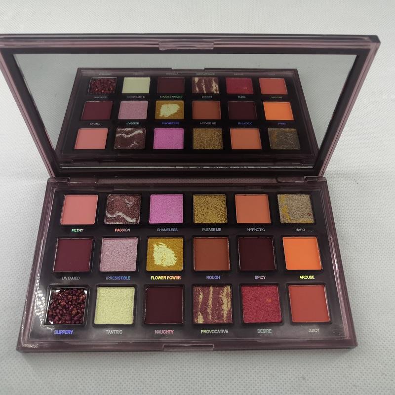 Glitted glitter Eyeshadow paleta 18 cores olho sombra paleta maquiagem ultra shimmer rosto cosméticos frete grátis