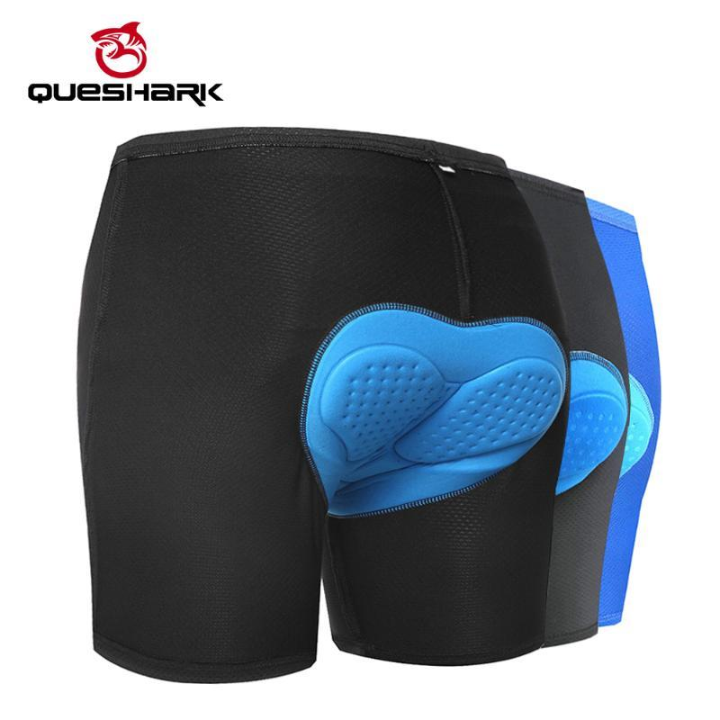 QUESHARK Professional Cycling Underwear 3D Padded Cycling Shorts 100% Lycra Shockproof Bicycle Shorts Road Bike