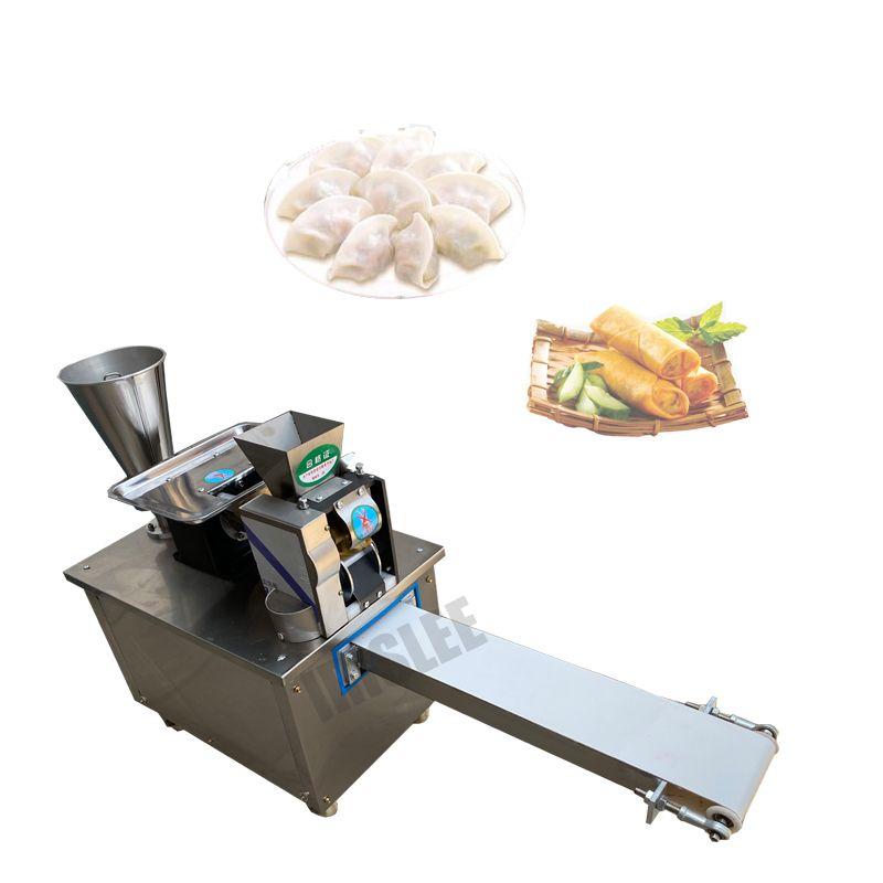Gyoza Frühling Rolle Empanada Samosa Machine Automatische Samosa Maker 4800pcs / h Edelstahl Dumplink-Wrapper-Maschine
