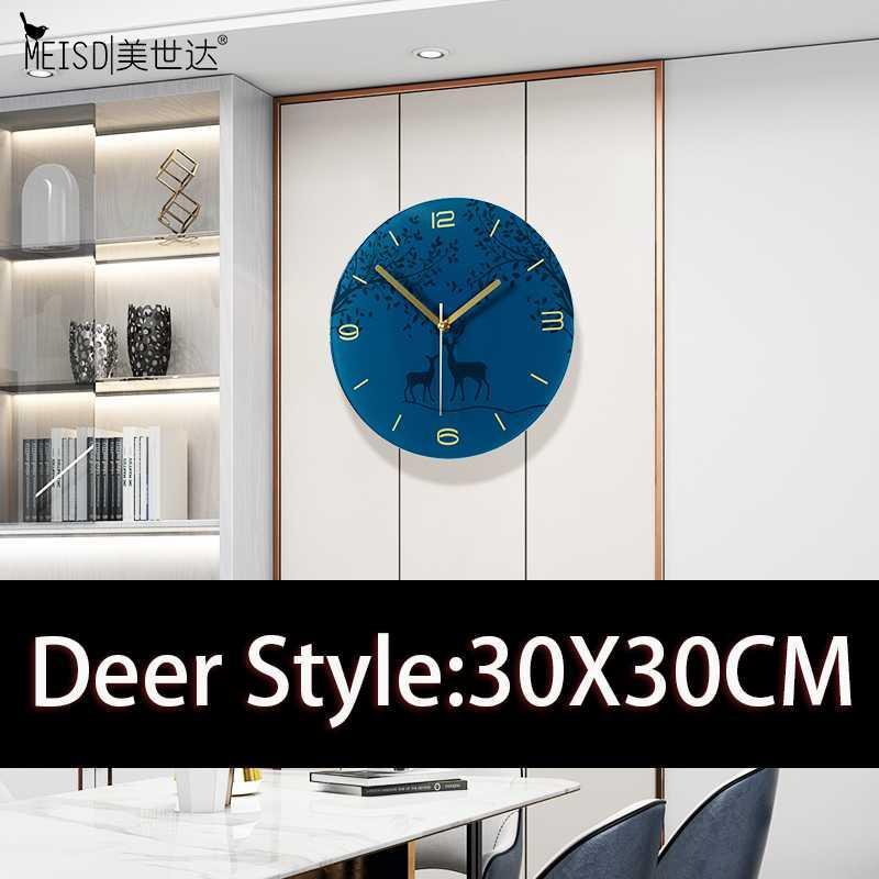 MEISD pared del arte del dibujo decorativo reloj moderno Ronda relojes de cuarzo silenciosa habitación del reloj colgado en la pared del Reloj envío