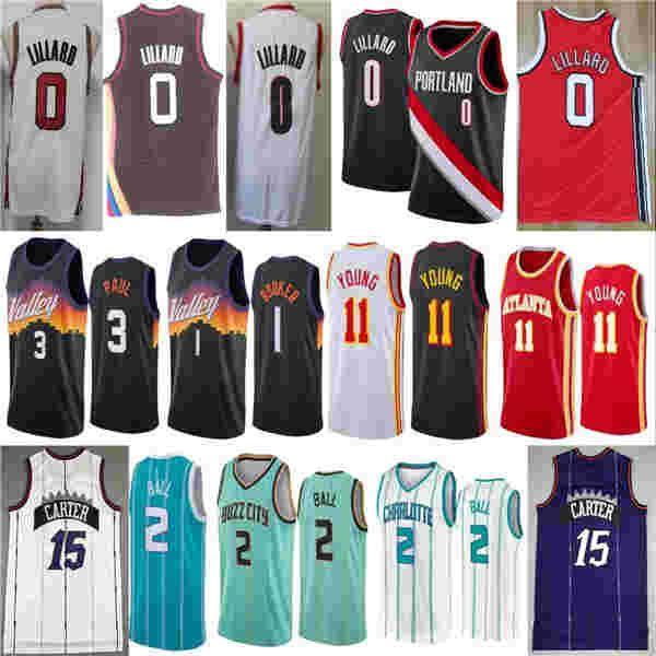 2021 New Chris Damian 3 Paul 0 Trara Lillard Devin Vince 1 Booker 11 Jovem Jersey 15 Carter Lamelo 2 Ball City Basketball Jersey