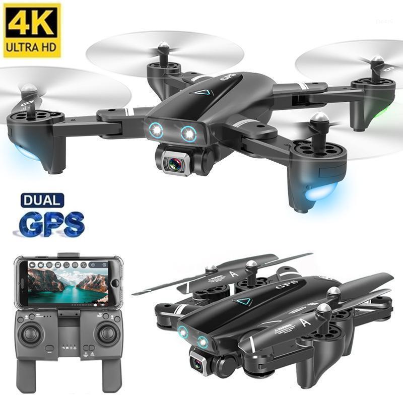 الطائرات بدون طيار S167 5 جرام quadcopter gps rc بدون طيار مع كاميرا 4 كيلو واي فاي fpv طوي قبالة نقطة تحلق لفتة pos فيديو لعبة هليكوبتر 1