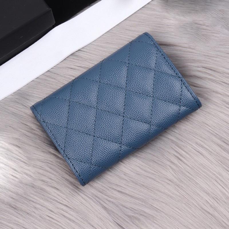 Vente chaude Femme Classic Prestige Caviar Card Titulaire Top Qualité Véritable Cuir Véritable Femme Mini Carte de crédit de marque courte