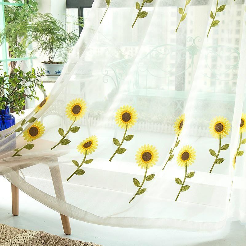 Rideau de design floral européen et américain de haute qualité pour rideau brodé pour salon chambre brodée écran tulle