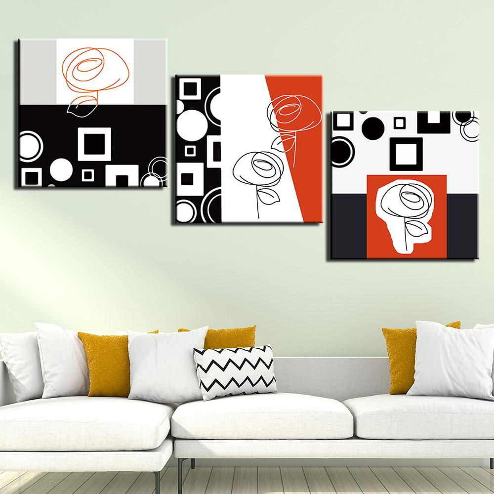 3 Panel Wall Art Painting Canvas Print Abstract Sitll Life Pictures Prints Poster For Living Room Home Decor Modern Artwork