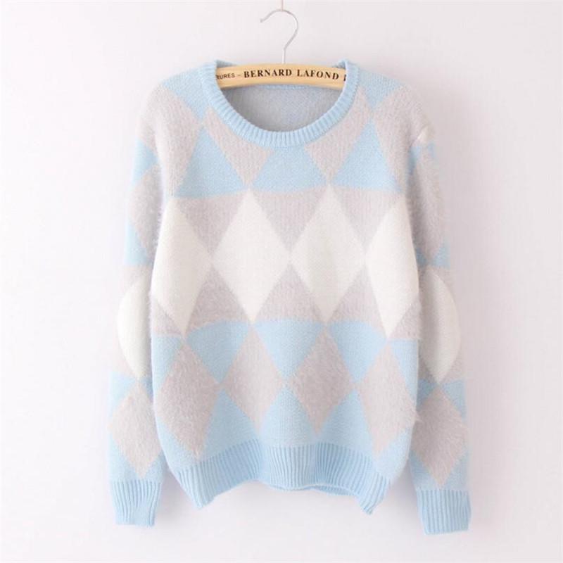 2020 casual senhoras camisolas femininas femininas camisola de inverno moda mulheres primavera outono outono pulôver manga longa xadrez f1230