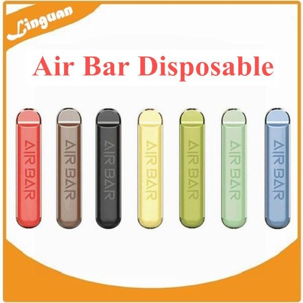 Air bar Dispositivo di pod monouso 1.8ml Penna vape 380mAh Batteria 500Puffs Pre-riempito Vapori E CIGS Sistema portatile Sistema portatile Kit di avviamento VS PLUS DHL