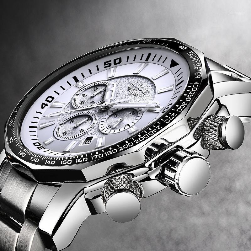 Wristwatches Men Watch Big Dial LIGE Chronograph Top Brand Fashion Man Waterproof Sport Wristwatch Relogio Masculino Relojes Hombre1