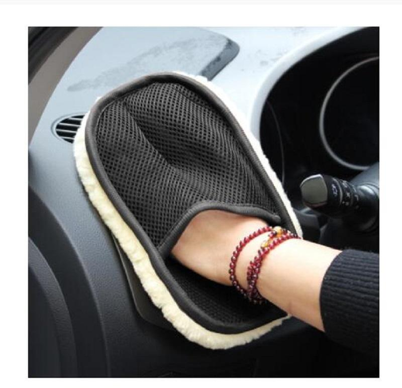 Car Styling Wool Soft Car Washing Gloves Cleaning Gloves Brush Motorcycle Washer Care Products Household Cleaning Tools