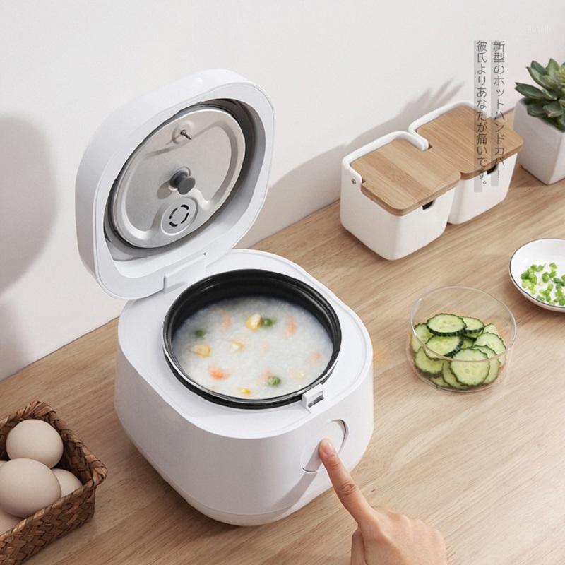 متعددة الوظائف طباخ الأرز الكهربائي مصغرة الأرز المتعدد 1.2L الذكية وعاء الغداء مربع توقيت أكثر دفئا متعدد المعالج طباخ 1