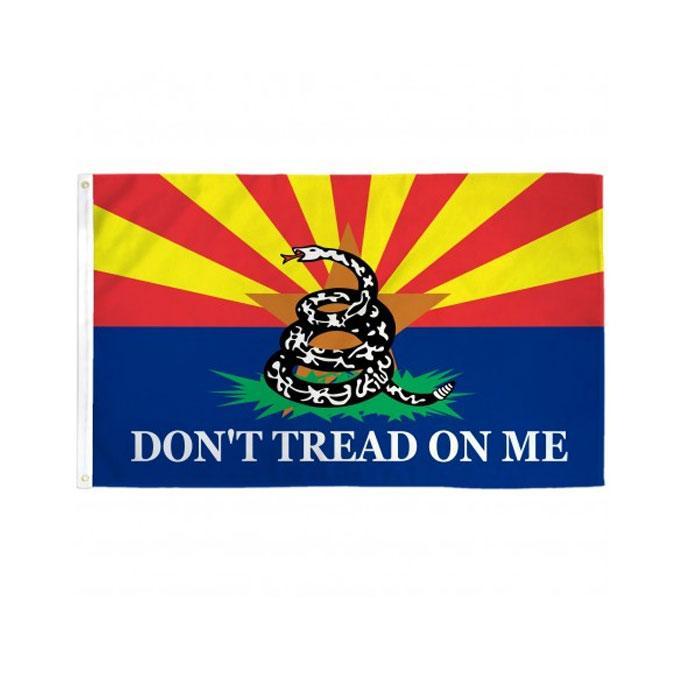 Arizona tritt nicht auf mich auf mich Flagge fliegende Dekoration 3x5 ft Banner 90x150cm Festival Party Gift 100D Polyester Gedruckt Heißer Verkauf!