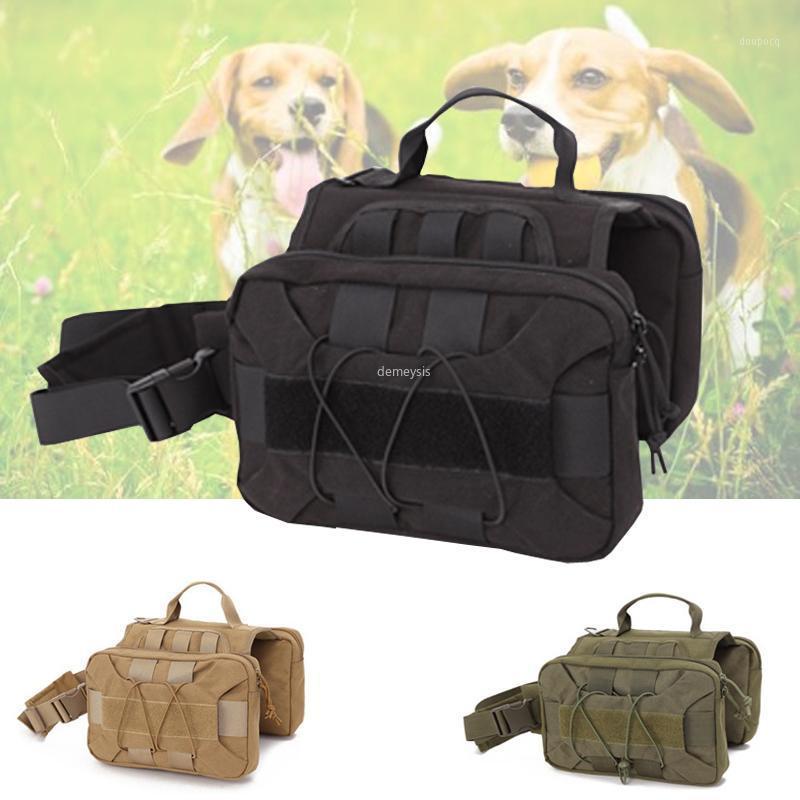 Наружная охота на уборку собаки Жилет Molle Army Tog Trail Обучение Одежда Регулируемая тактическая служба Пакеты Vist1