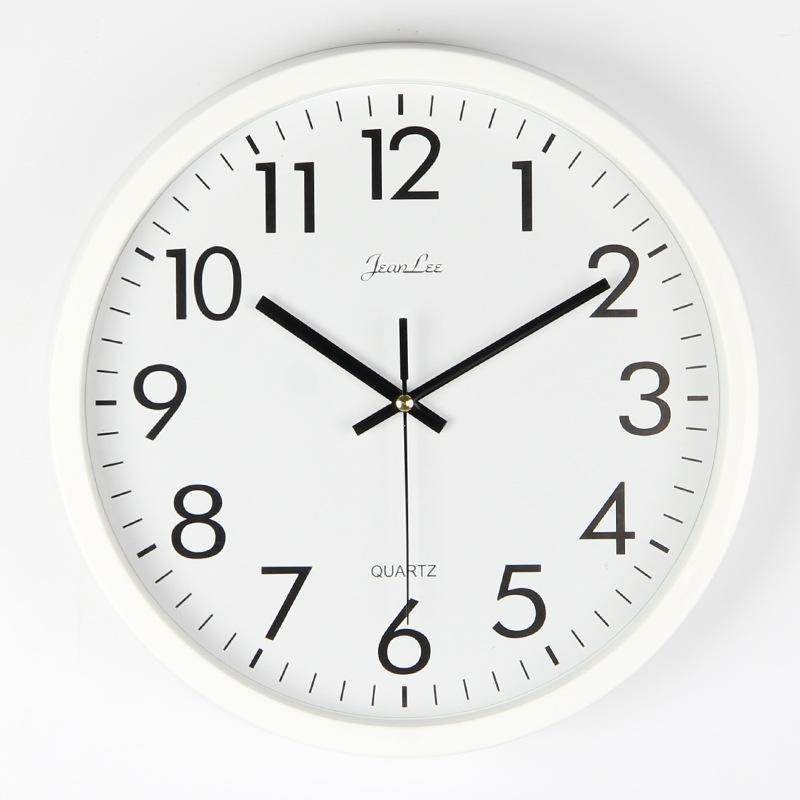 Mute Nordic Relógio de parede Simples Cozinha Branco Relógio de parede Mecanismo Quarto Sala Relojes De Pared Home Decor DD45WC