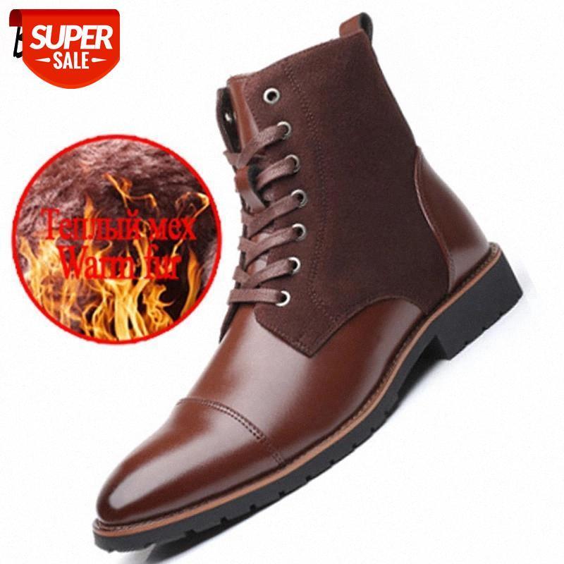 Marque Hommes Bottes Haute Qualité En Cuir Hommes Chaussures Chaussures En plein air Non-Slip Bottines Classiques Mocassins confortables Chaussures pour hommes # QD58