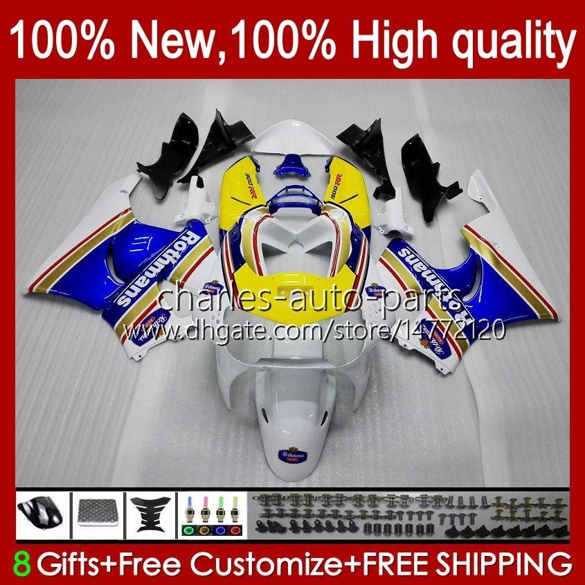 Kit de corps pour Honda CBR919 CBR900 RR CBR900RR CBR 919RR 919CC 93HC.9 Rothmans Blue CBR919RR 98 99 CBR 900 919 CC RR 1998 1999 Carénage