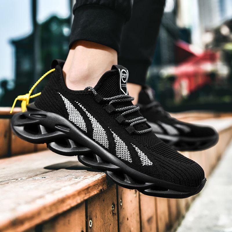 Eğitmenler Mesh Sneakers Yaz Siyah Casual Nefes Running Spor Ayakkabı Basket Homme Ayakkabı Men Walking