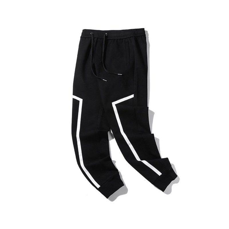Street Fashion Mens Jogger Pant Paris Embroidery Jogging Pants 2021 Men Women Stylist Hip Hop Street Stripe Trousers
