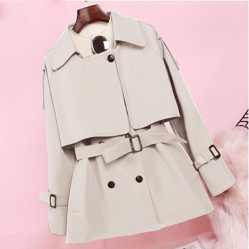 Nell'autunno 2021, il nuovo aglio a vento a metà lunghezza, sorella di grasso femminile, cappotto corto, cappotto sottile e sottile, cappotto britannico