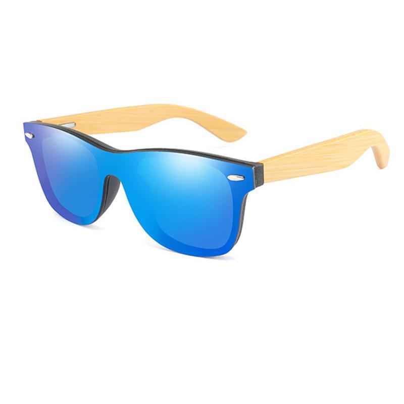 Gafas de sol de madera Gafas retro Gafas Classic Gafas Cuadrado Bambú para mujeres Hombres de Sun Mirror Hombres de alta calidad SOL FFSIP