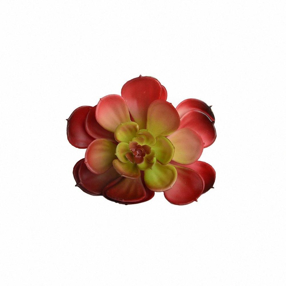 Artificielle Succulent Plant jaune coeur Echeveria Lotus intérieur Usine Bureau Décor Simulation couleur automne IvcK #