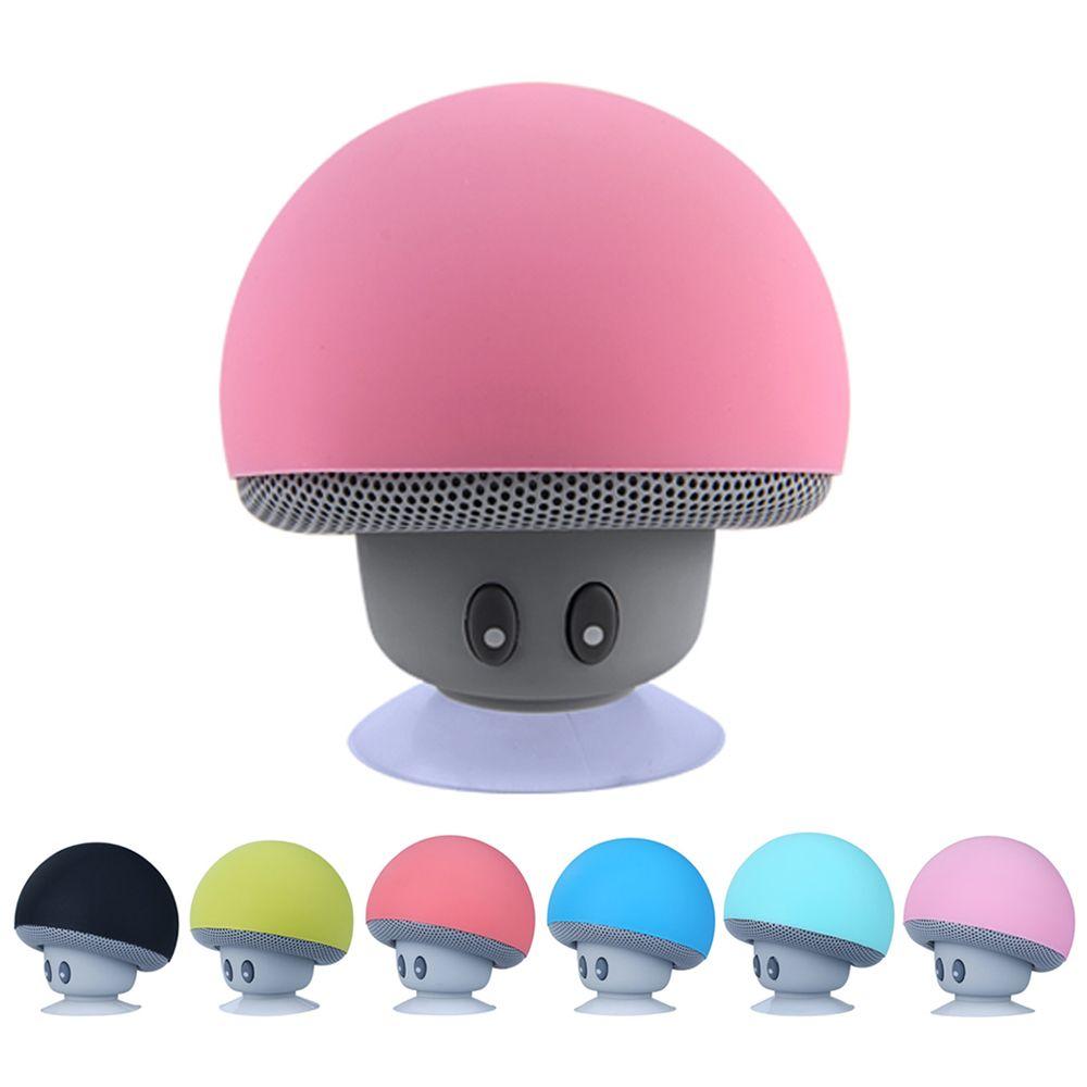 Inteligente lindo de hongos que aspira el altavoz Bluetooth inalámbrico incorporado en el MIC impermeable HIFI estéreo manos libres portátil de altavoces