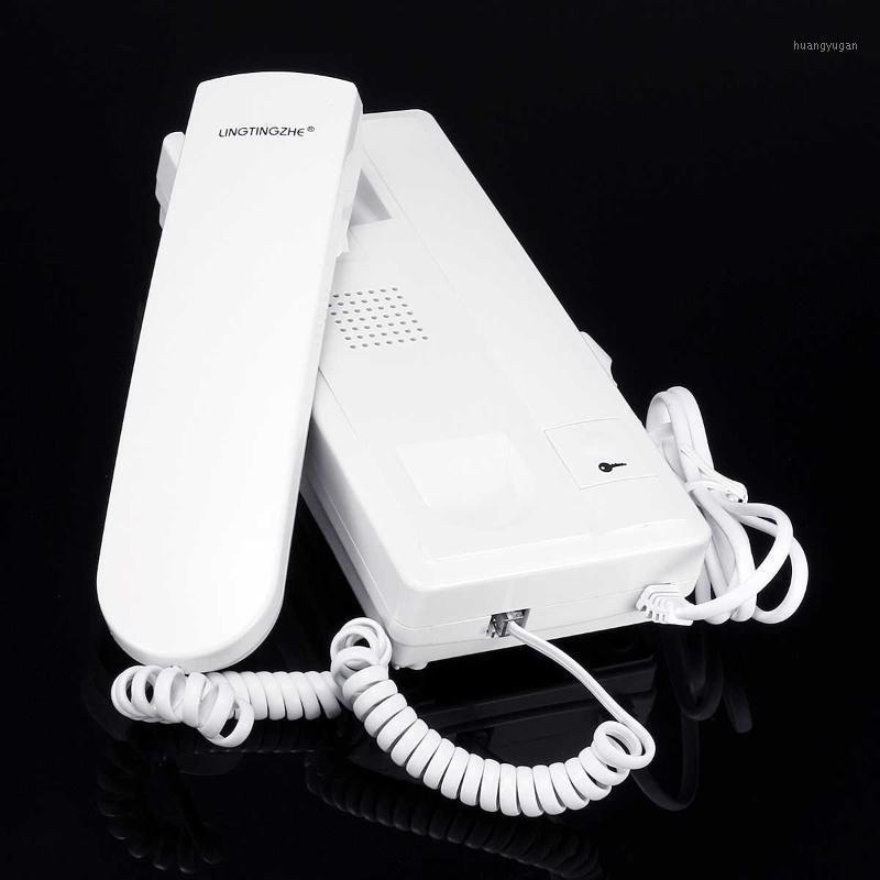 Contrôle d'accès Serrure Audio Interphone Soigneur Système de saisie téléphonique Système 12v Kit pour appartements maisons appartement Fournitures de sécurité ménage1