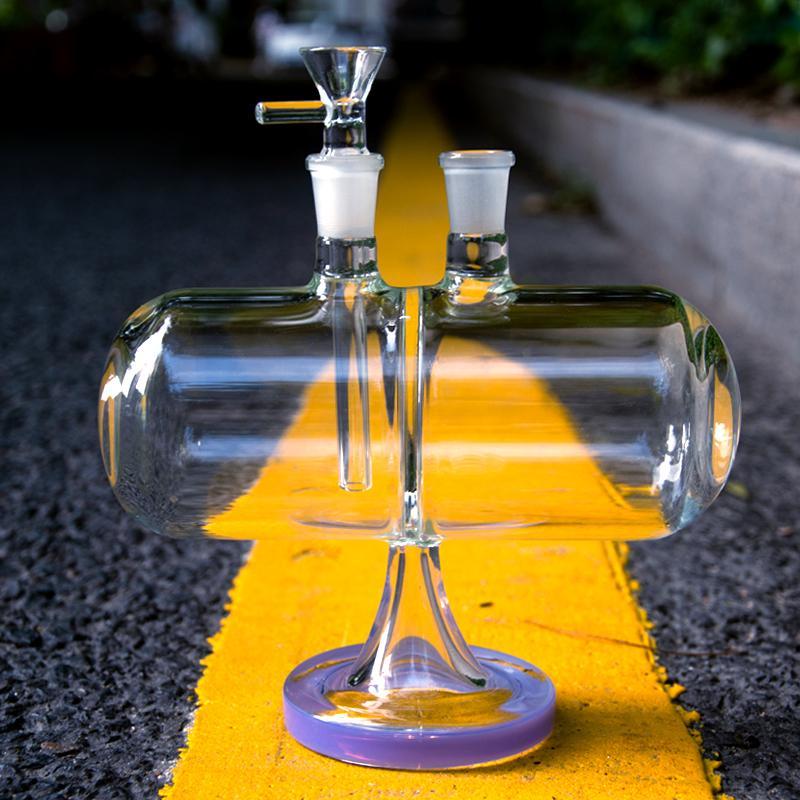 Glas Wasserleitungen Infinity Waterfall-Schutzhörer Umlaufbare Schwerkraftöl DAB Rigs-Tabakbongs 14mm Weibliches Gelenk mit Schüssel XL-2061