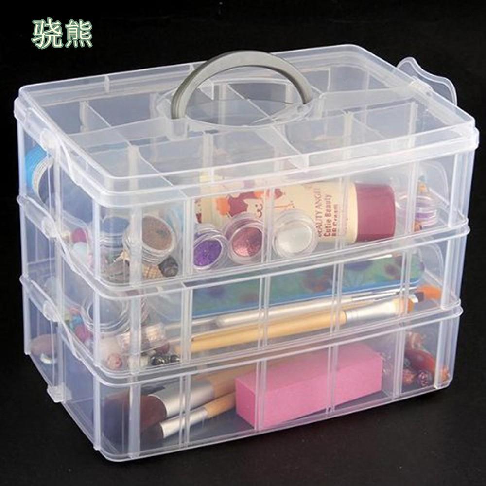 30 cuadrículas Claro plástico Caja de almacenamiento para los juguetes de los anillos de exhibición de la joyería organizador de maquillaje Caso Craft soporte del contenedor de joias porta Y1113