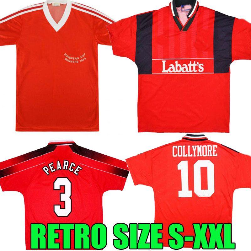 94 95 79 80 Nottingham Wälder Retro Football Hemden Collymore Pearce 1979 Nottingham McGovern Star Robertson Burns Lloyd Soccer-Trikots