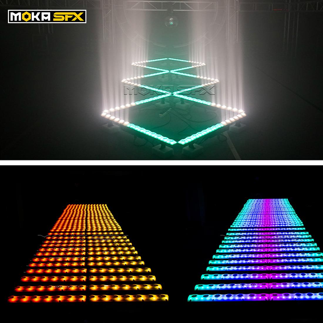Spain Stock LED Wall Washer Stage Lighting 14x3W DMX Light Bar Pixel Control RGB 3in1 Color Mixing for Events Show Party