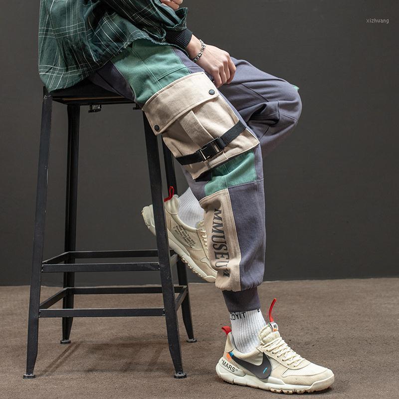 Erkekler koşu rahat pantolon tulum erkek gevşek çok cep kiriş ayakları rahat pantolon pantolon sonbahar ve kış gelgit1