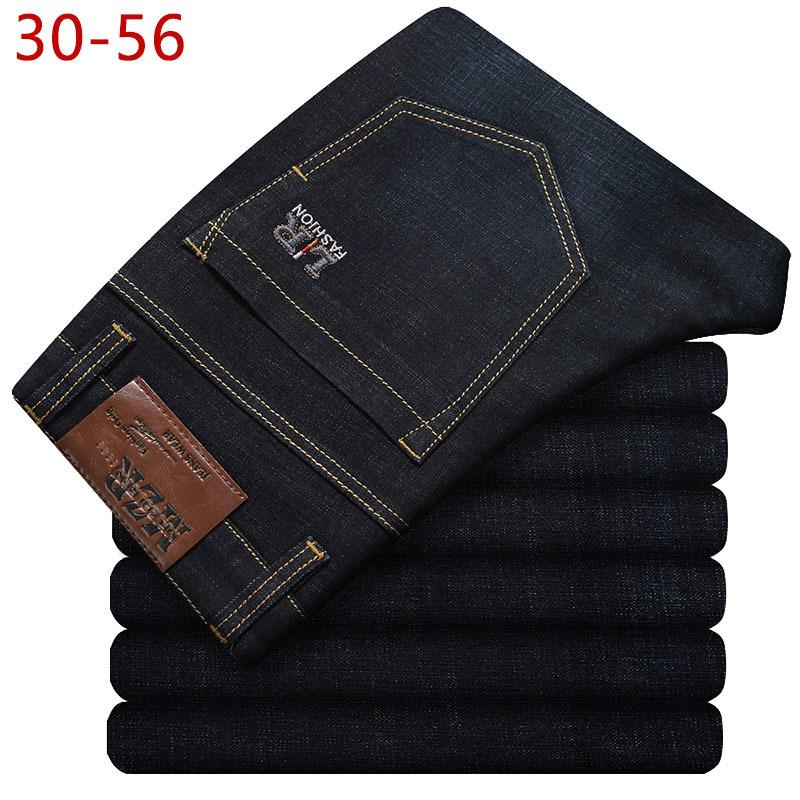 Büyük Beden 30-56 Klasik Stretch Baggy Jeans Erkek Marka Demin Siyah Gevşek Pantolon Casual Erkek Pamuk Yüksek Elastik tulumları CQY10 201111