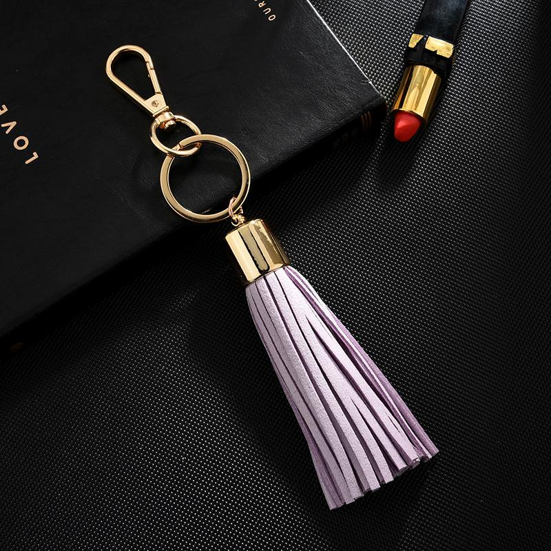 جديد مفتاح سلسلة مع بو الجلود شرابة للنساء llaveros موهير حقيبة البق سيارة حامل كيرينغ كيرينغ حامل مجوهرات NEH340 H JLLGVB