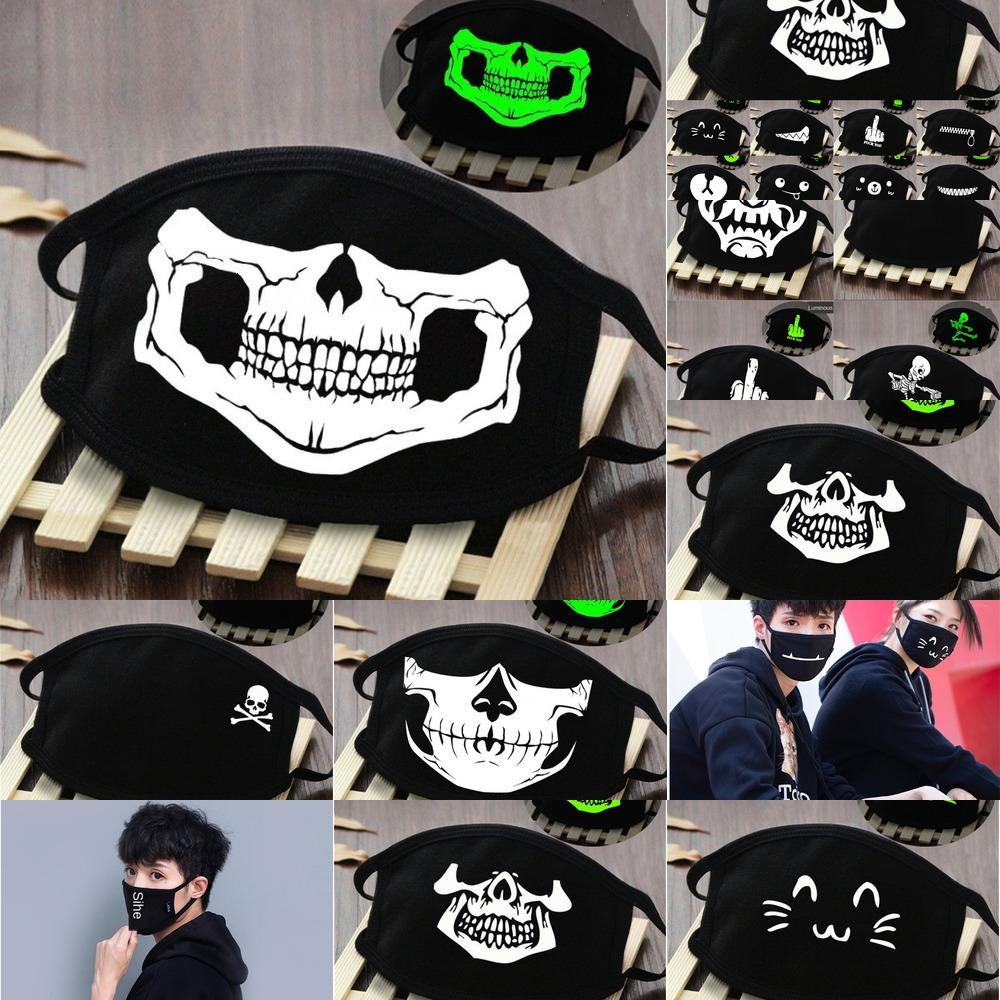 1 1Pcs Конструктор печатных Dust Хлопок Рот маска для лица Маски Унисекс маска для лица Человек женщина, носить моды Черный Белый Синий # 382 # 358