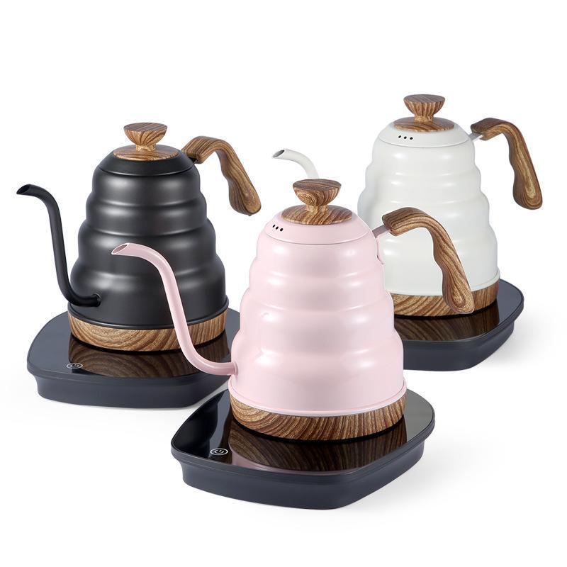 일정한 온도 1L 구즈넥 VARIALE 온도 조절 주전자 커피 포트 전기 주전자 EU