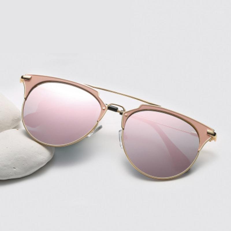 Sexy Lady Vintage Round Metal Sunglasses Uomo Uomo che guida nera retrò Specchio Sole Occhiali da sole Signora Sunglasses UV4001