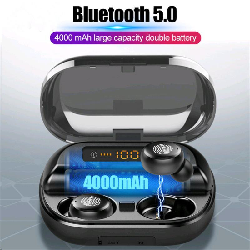BYKRSEN V11 4000mAh Wireless Bluetooth 5.0 TWS Earphones IPX7 Waterproof 9D Stereo Sport Headphone Power Bank Bluetooth Earphone