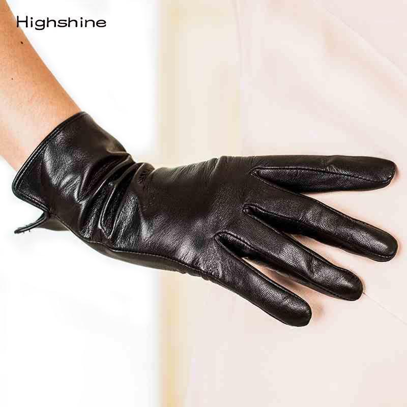 Winter Echtes Lederhandschuhe Schaffell Handschuhe hinzufügen Samt Verdickung Telefinger Frauen Touch Screen1