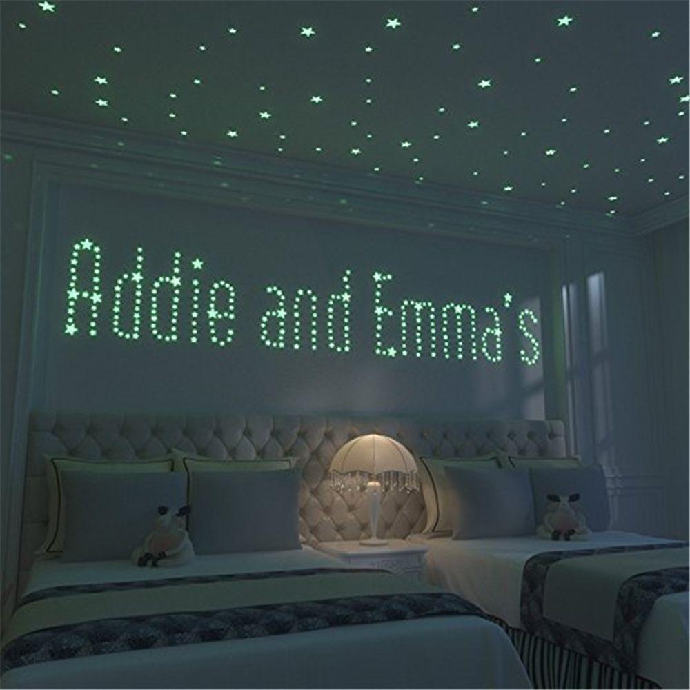 Pcs 200 Starry Sky Moon Glowing Stickers Set Home Decor Wall Glow in the Dark Stars Sticker Bedroom Decoration T3ht