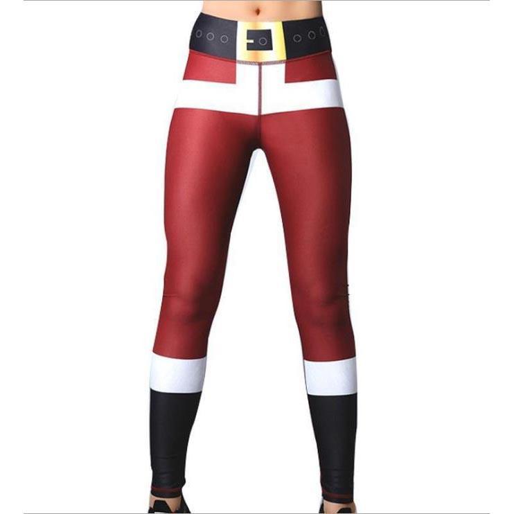 Pantaloni di Natale Legging delle donne di sport di modo di Cosplay esecuzione Yoga jogging Trendy novità Donna Pantaloni Danza esecuzione vestiti nuovi