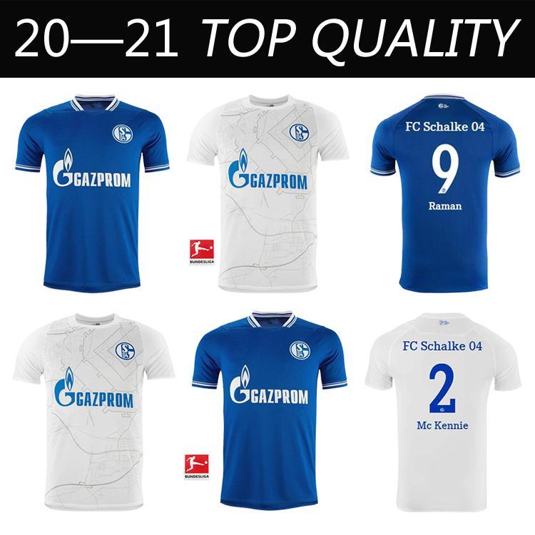 2020 2021 Schalke Home Home Blue Soccer Jersey 20 21 Schalke 04 Tyory Camicie di calcio 2019 # 7 Uth Serdar Bentaled Caligiuri Jerseys