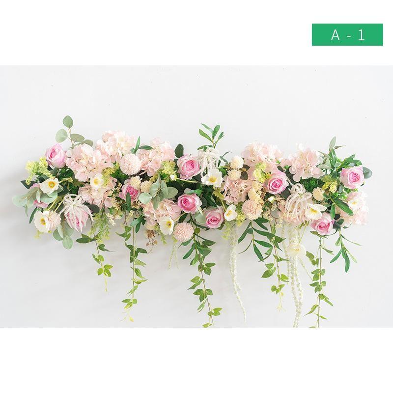 Decoración artificial de la disposición de la flor para el plan de boda con el material Hi-Q Fake Flower Row Arch Decor Support Modalizar
