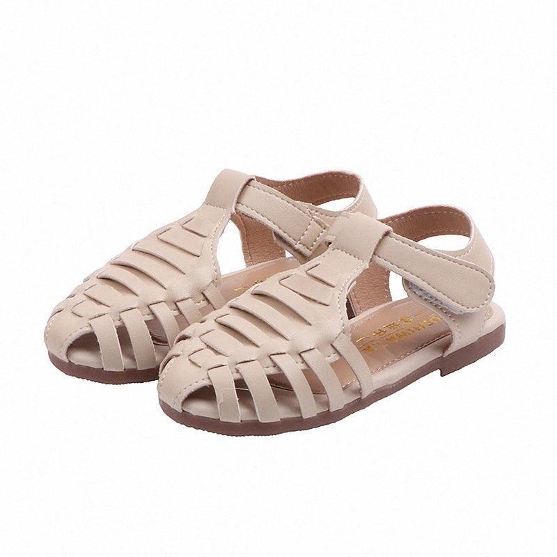2020 New Estate antiscivolo Scarpe Bimbo coreana versione delle ragazze vuota tessuta sandali in bambini della spiaggia delle ragazze dei pattini Sandali WLlU #