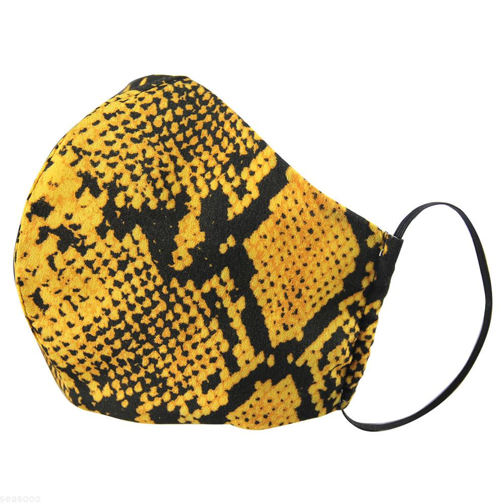 Protective Reusable Snake designer Camo Cloth Washable Face Mask Mouth Cover Dustproof for Adults Women Fashion Cotton Mask
