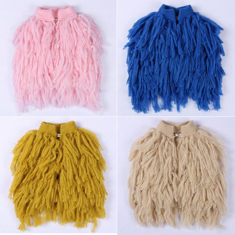 Детские девочки свитер сохраняют теплые моды падение одежды одежды пальто жилет свитера кисточка одежда для одежды для жилья верхняя одежда детские куртки Y200831
