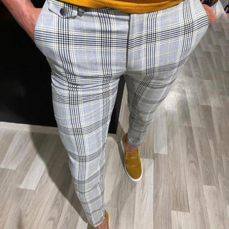 Trendy Hommes Joggers Slim Gym Costume Convient Sweatpants Sport Bureau Gym Skinny Pantalons simple Pantalons Pantalons Skinny 1109