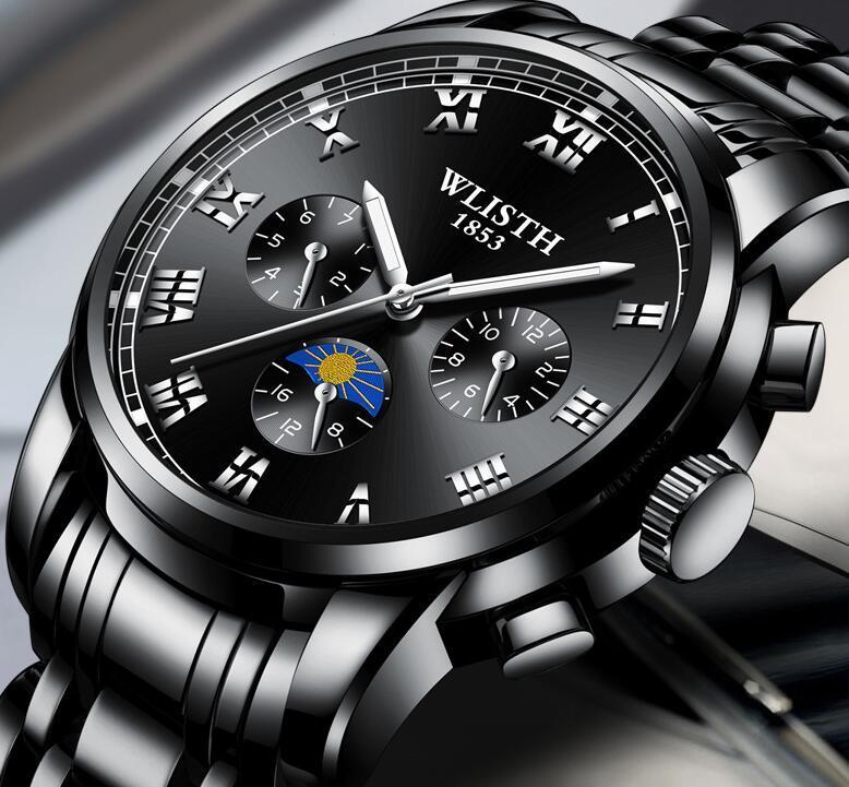 WLISTH Herren Classic Uhren Männlich Business Nightlight Watch 2021 Wasserdichte Uhr