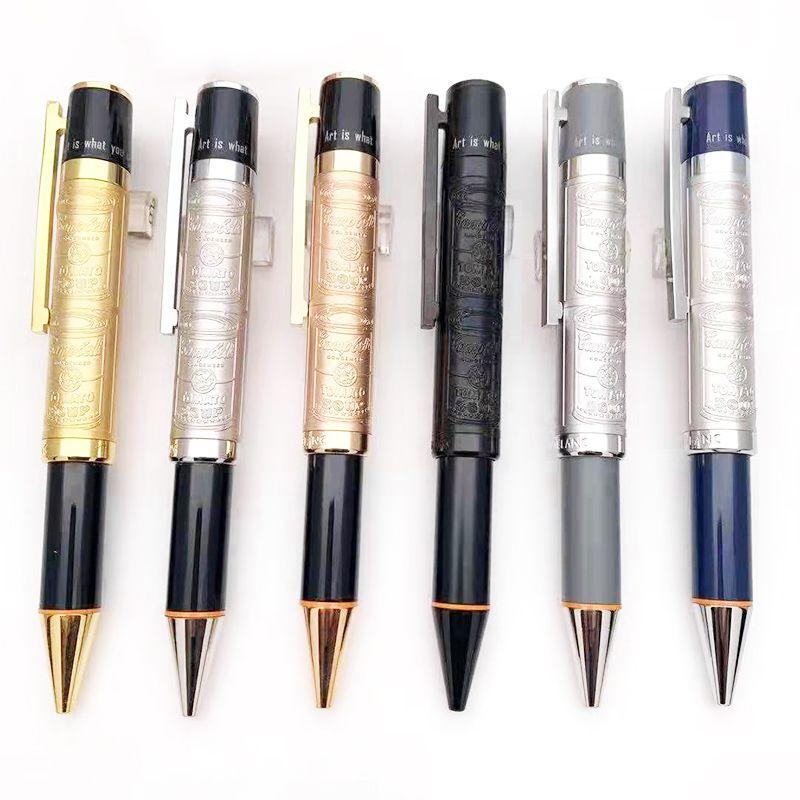 جديد أقلام فاخرة محدودة الطبعة الخاصة أندي وارهول تخفي برميل المعادن قلم الكتابة مكتب اللوازم المدرسية عالية الجودة